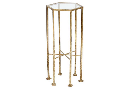 Hadley Side Table, Gold