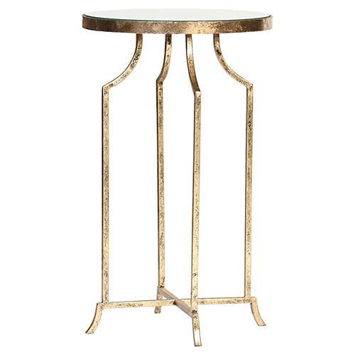 Sutton Side Table, Gold