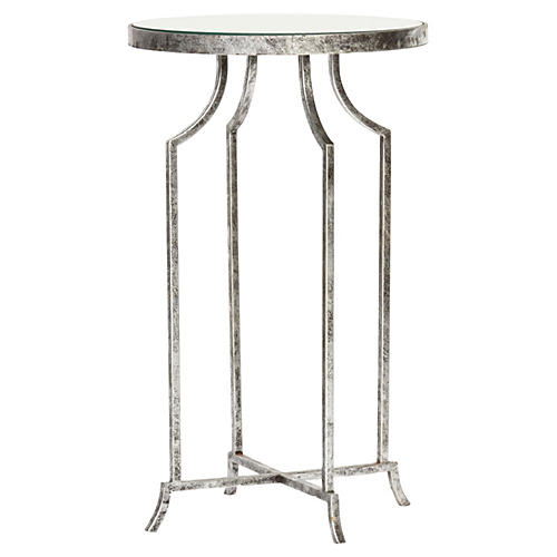 Sutton Side Table, Silver
