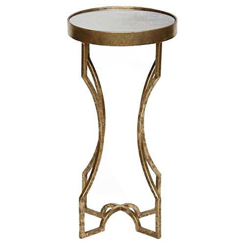 Ella Side Table, Glass/Gold