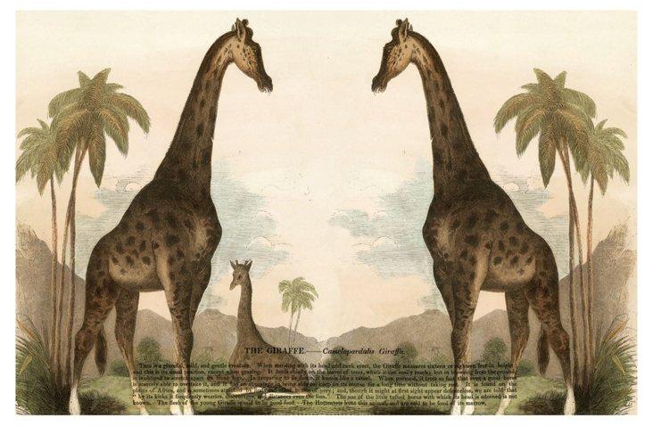S/6 Giraffe Place Mats