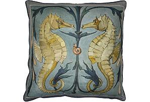 Barclay Butera Sea Horse Pillow
