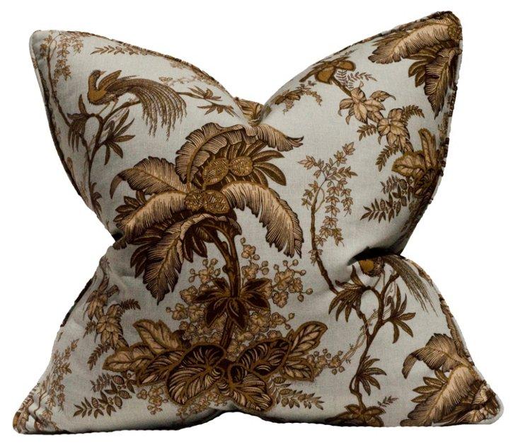 Coconut Grove 22x22 Linen Pillow, Brown