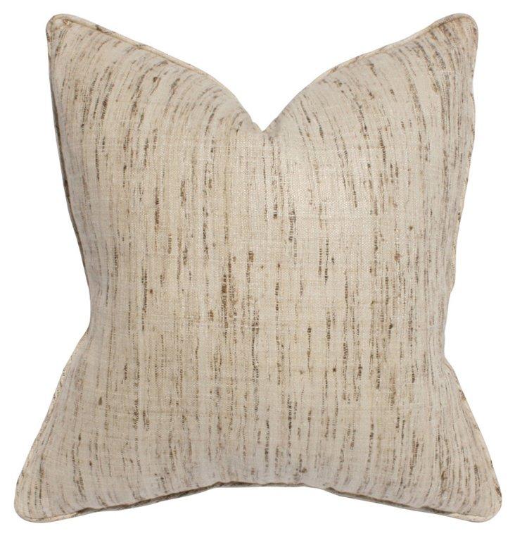 Bombay 22x22 Silk Pillow, Tan