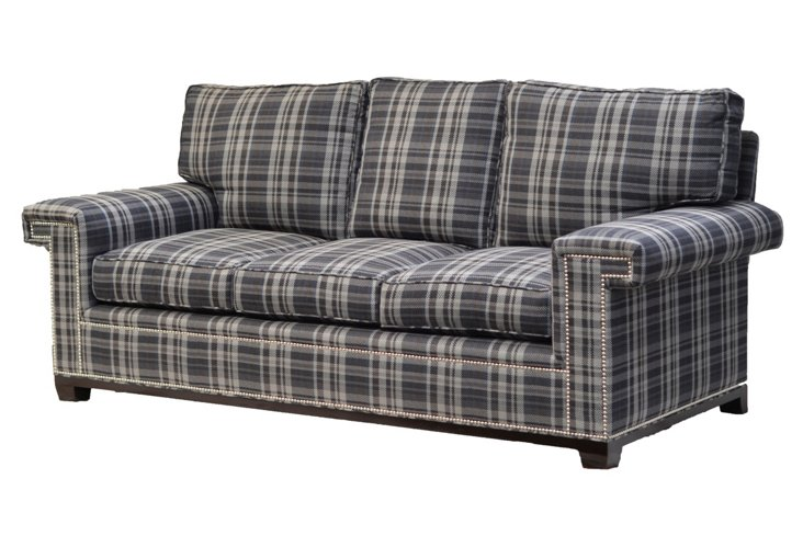 Paxton Sofa, Plaid