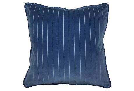 Mandello 22x22 Velvet Pillow, Royal Blue
