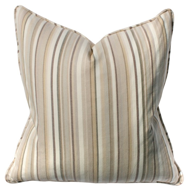 Owen 22x22 Cotton Pillow, Taupe