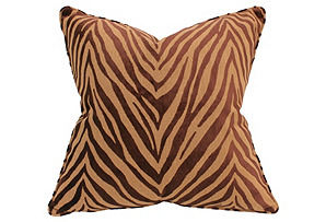 Royal Tiger 22x22 Pillow, Caramel