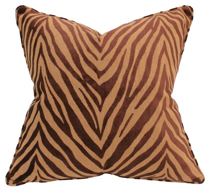 Royal Tiger 22x22 Pillow, Caramel