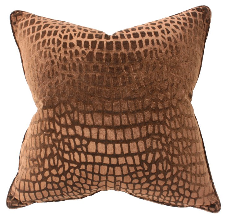 Voyage 22x22 Pillow, Chocolate