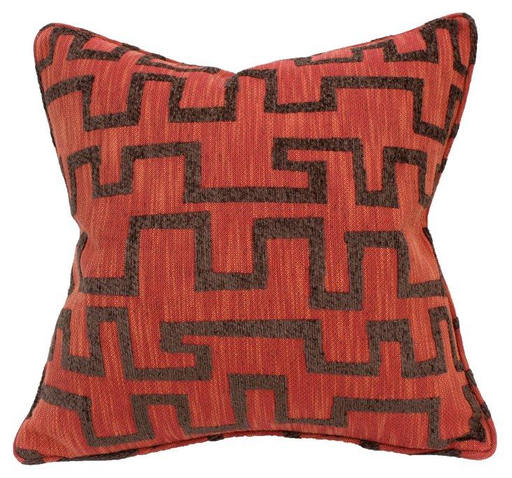Tulsa 22x22 Pillow, Rust