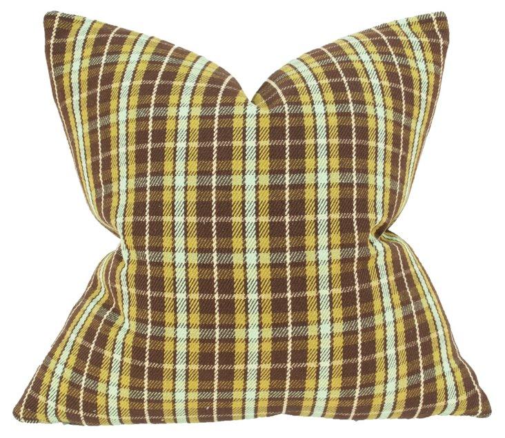 Canterbury 22x22 Cotton Pillow, Green