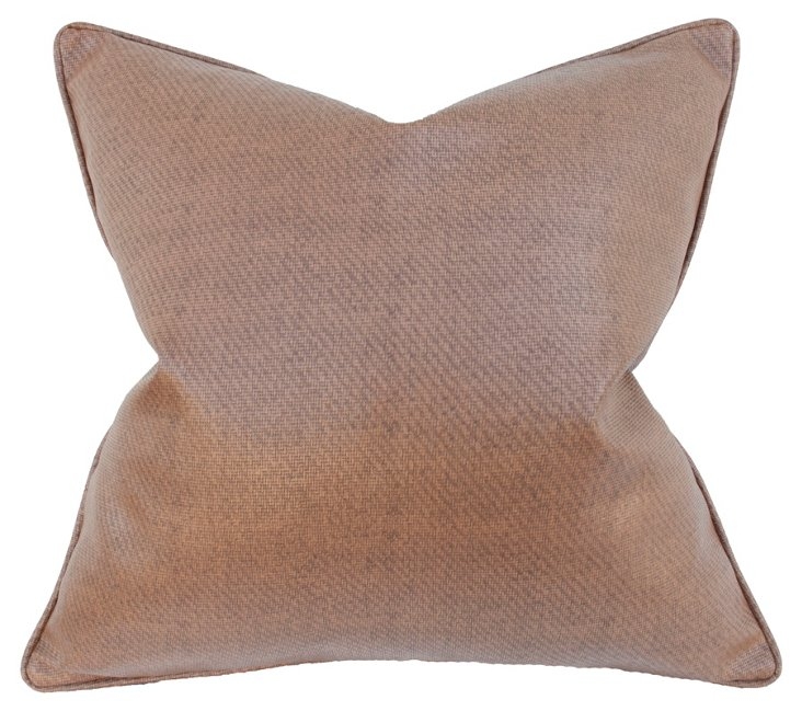 Saddle 22x22 Pillow, Brown