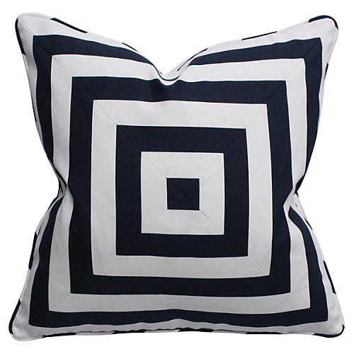Canopy 22x22 Cotton Pillow, Navy