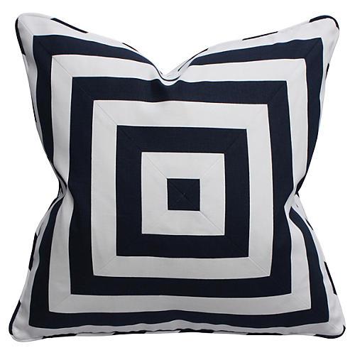 Canopy 22x22 Cotton Pillow, Navy