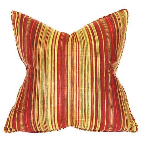 Stripe 22x22 Linen-Blend Pillow, Multi