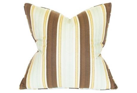 Stripe 22x22 Cotton Pillow, Multi