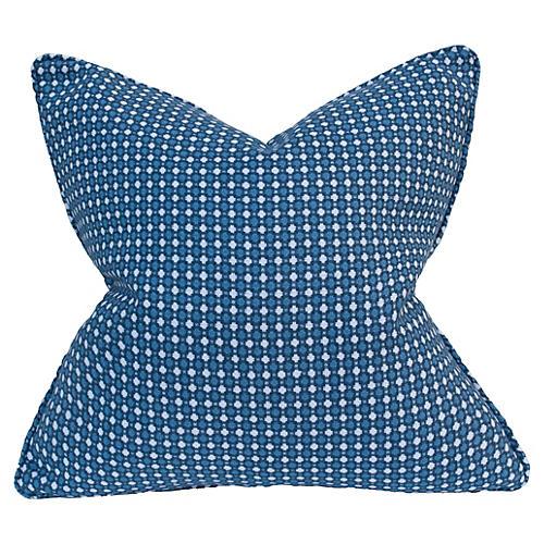 Danielle 22x22 Linen Pillow, Lapis