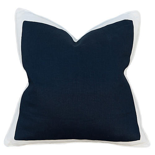 Charleston 22x22 Pillow, Navy