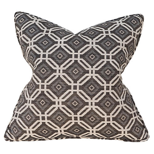 Geo 22x22 Pillow, Gray