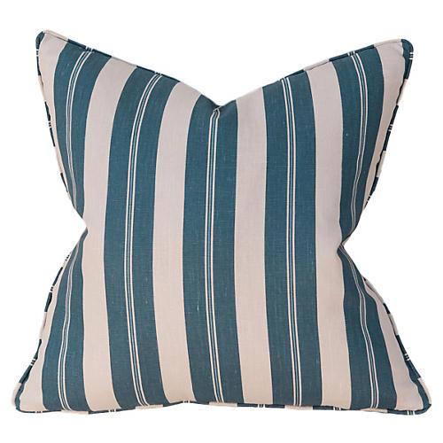 Joel Stripe 22x22 Pillow, Blue