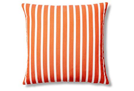 Shore 22x22 Outdoor Pillow, Tangerine