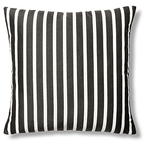 Shore 22x22 Outdoor Pillow, Charcoal