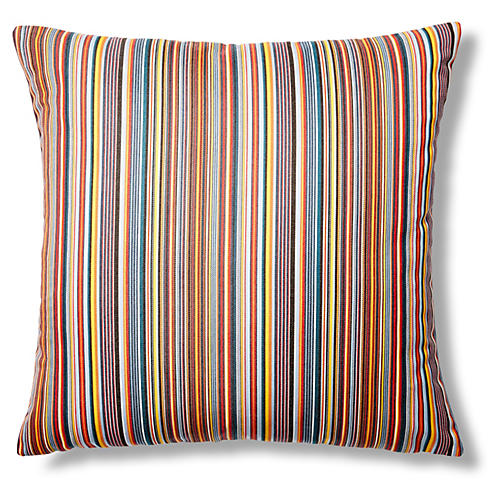 Mode 22x22 Outdoor Pillow, Purple/Orange