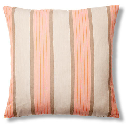 Cove 22x22 Outdoor Pillow, Tan/Orange