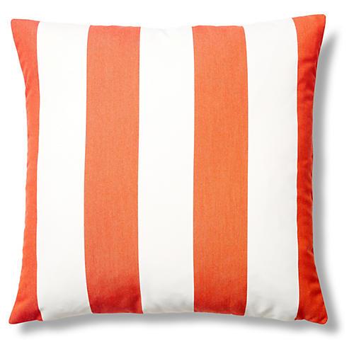 Cabana 22x22 Outdoor Pillow, Tangerine