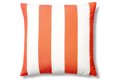 Cabana 22x22 Outdoor Pillow, Tangerine