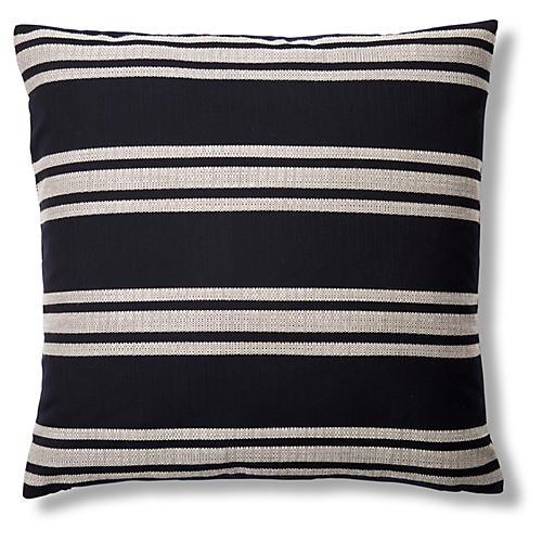 Hampton 22x22 Outdoor Pillow, Indigo
