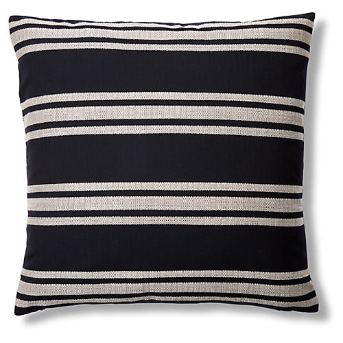 Hampton 22x22 Outdoor Pillow, Indigo