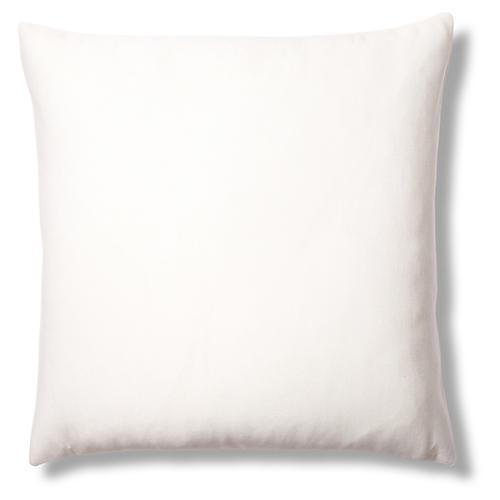 Rib 22x22 Sunbrella Pillow, Oyster