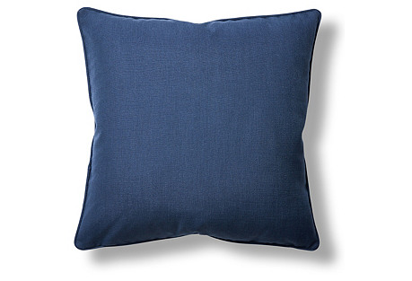 Gramercy 22x22 Throw Pillow, Navy