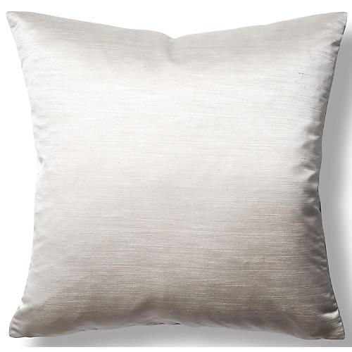 Moonstruck 22x22 Throw Pillow, Platinum