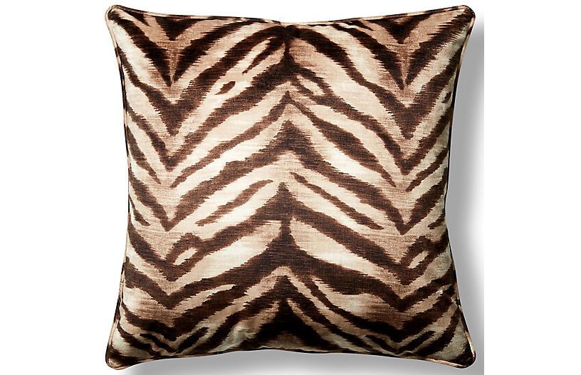 Tigress Sahara 22x22 Throw Pillow - Tan - Barclay Butera