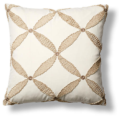 Windward 22x22 Throw Pillow, Sand