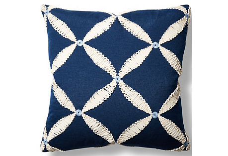 Windward 22x22 Throw Pillow, Navy