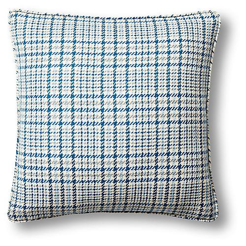 Huntington Plaid 22x22 Pillow, Blue