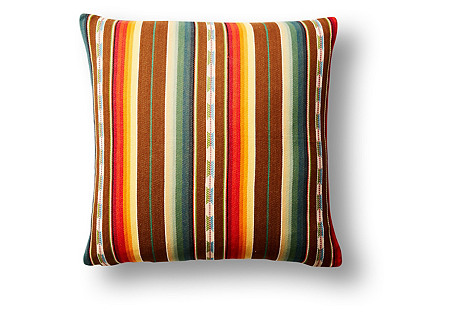 Rio Grande Stripe 22x22 Pillow, Yellow