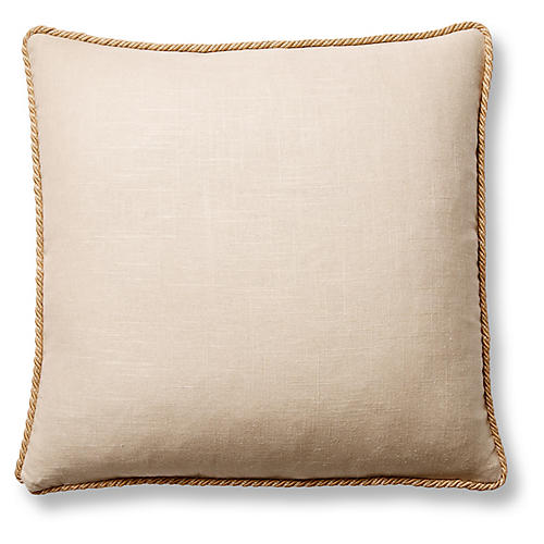 Jefferson 22x22 Pillow, Sand Linen