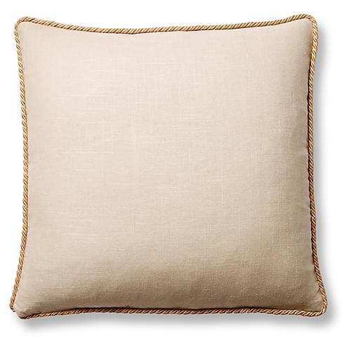 Jefferson 22x22 Pillow, Sand Linen
