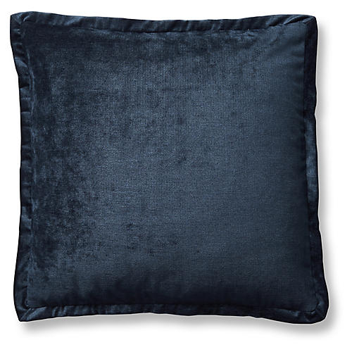 Tippi 22x22 Pillow, Navy Velvet