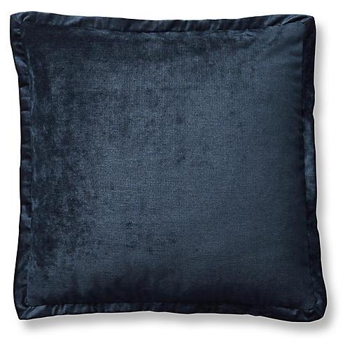 Tippi 22x22 Pillow, Navy Velvet
