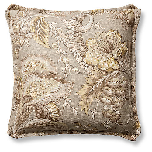 Malabar 22x22 Pillow, Brown/Gray