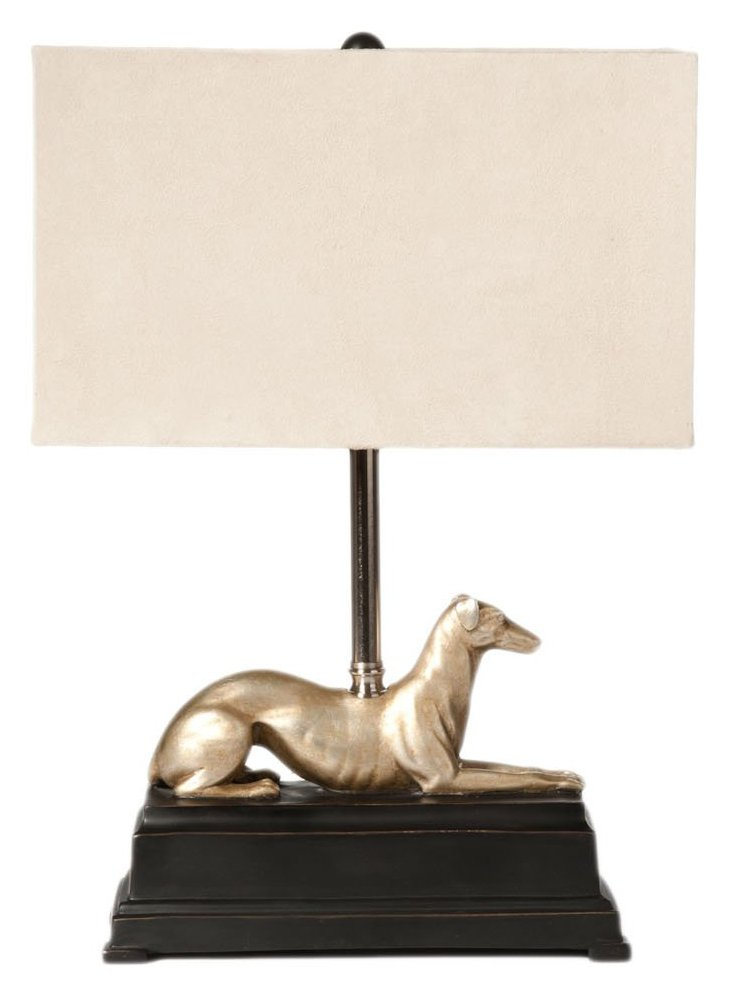 Greyhound Table Lamp, Gold