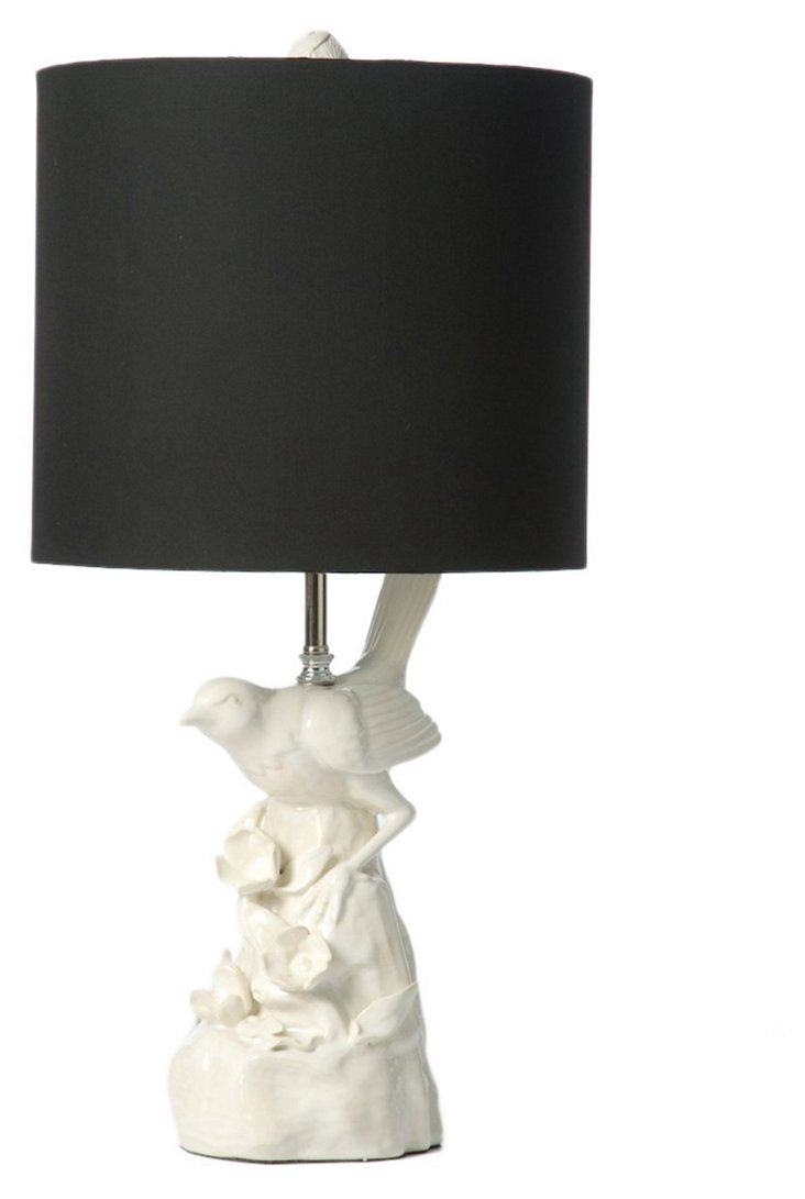 Porcelain Bird Table Lamp