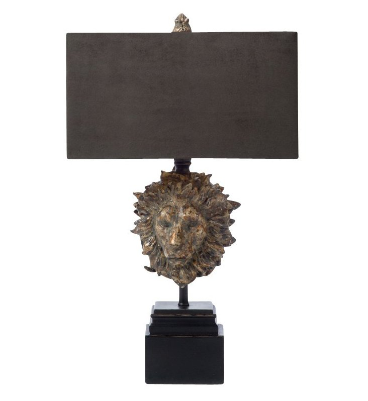Anne Table Lamp, Antiqued Gold