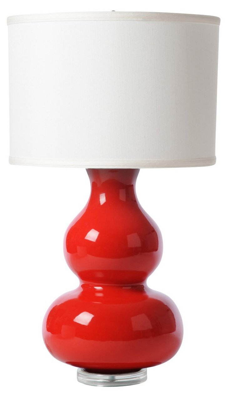 Double Gourds Table Lamp, Red
